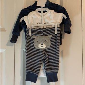 Newborn Boy Onsie w/ pants and zip up